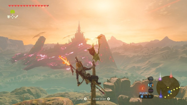 Link looking over Hyrule castle