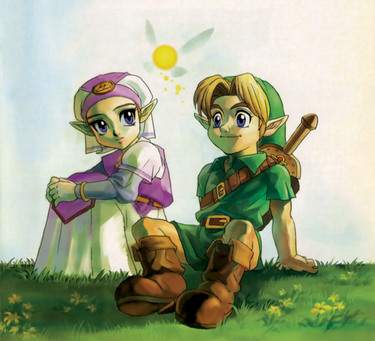 Zelda and Link in Ocarina of Time