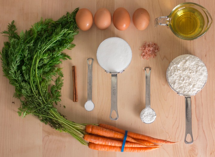 Carrot Cake ingredients