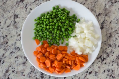 all the veggies on a plate