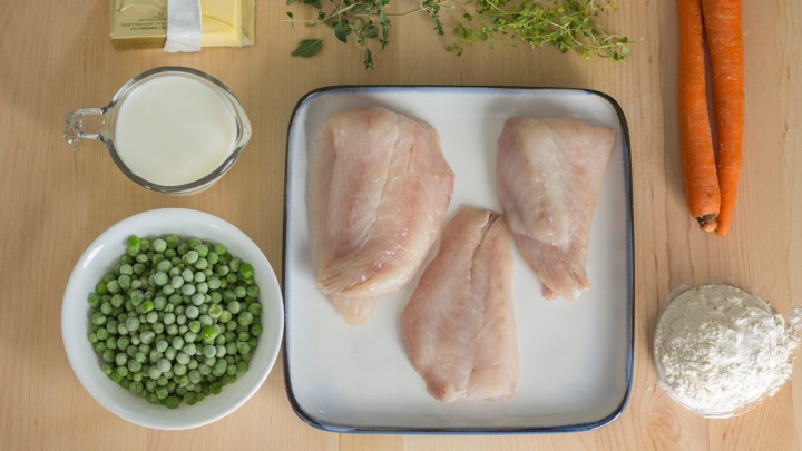 Fish Pie ingredients