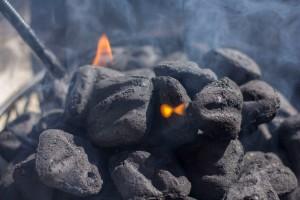 Lighting the Briquettes