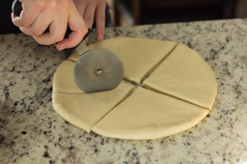 cut the dough