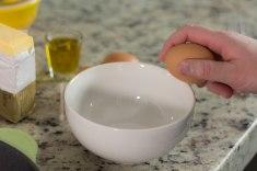 crack eggs