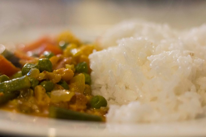 close up of curry